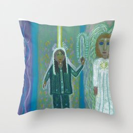 Angel and Me Throw Pillow