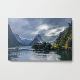 Milford Sound, fiordland national park, New Zealand Metal Print