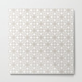 Gray and White Modern Minimalist Geometric Design Metal Print
