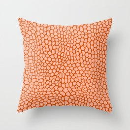 Reptile in Pink and Orange Throw Pillow