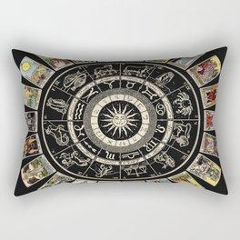 The Major Arcana & The Wheel of the Zodiac Rectangular Pillow