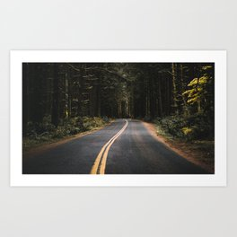 Washington road Art Print
