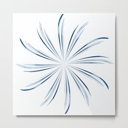 Steel Blue Star Metal Print