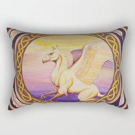 The Guardian - Celtic Griffin mandala Rectangular Pillow