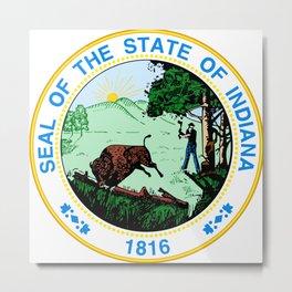 Indiana seal Metal Print