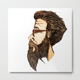 The Bearded One Metal Print