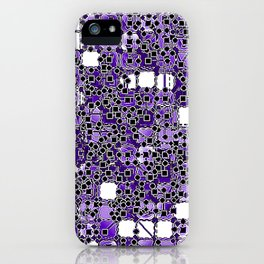 """Madrone Candea - Abstract 0005 """"Purple Monkeys Majesties"""" iPhone Case"""
