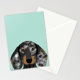 Doxie Dachshund merle dapple dog cute must have dog accessories dog gifts cute doxies dachshunds des Stationery Cards
