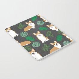 corgi palm monsteras summer dog breed pure breed pets Notebook