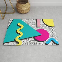 Abstract 1980's Rug