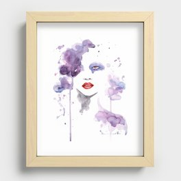 Red Eyes Red Lips two Recessed Framed Print