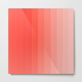 Shades of Living Coral From Hot Tomato Coral to Pale Blush Metal Print