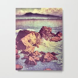 Stopping by the Shore at Uke Metal Print