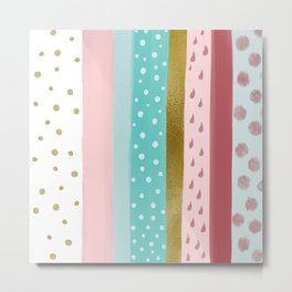 Popsicle in Rose Mint  Metal Print