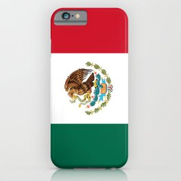 Mexican national flag iPhone Case