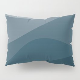Abstract Color Waves - Blue Palette Pillow Sham