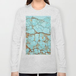 Cracked Turquoise & Rust Long Sleeve T-shirt