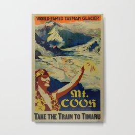 Vintage poster - Mt. Cook Metal Print