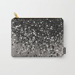 Silver Gray Glitter #1 #shiny #decor #art #society6 Carry-All Pouch