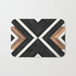 Urban Tribal Pattern No.1 - Concrete and Wood Badematte