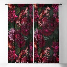 Vintage & Shabby Chic - Night Botanical Flower Roses Garden Blackout Curtain