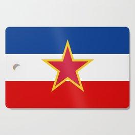 Yugoslavia National Flag Cutting Board