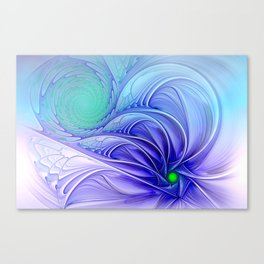 centered, turquoise and blue Canvas Print