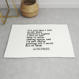 These wonderful nights - Fitzgerald quote Rug