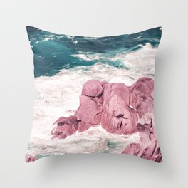 Kiss of the Sea I Throw Pillow