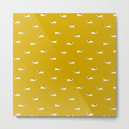Dog dachshund pattern Metal Print