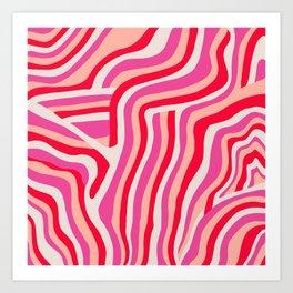 pink zebra stripes Kunstdrucke