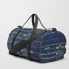 Library Card 23322 Negative Duffle Bag