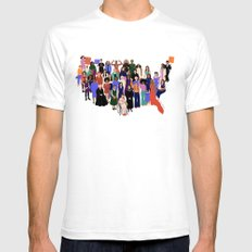 Women's March White SMALL Mens Fitted Tee