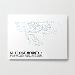 Belleayre Ski Center, NY - Minimalist Trail Art Metal Print
