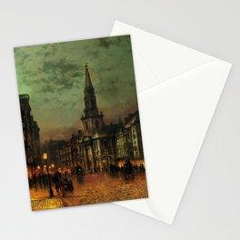 Classical Masterpiece 'Blackman Street, London' by John Atkinson Grimshaw Stationery Cards