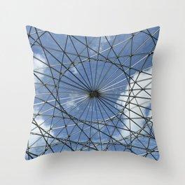 Caged Sky Throw Pillow