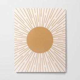 Cheerful Sun Metal Print