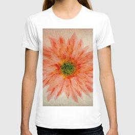 salmon flower T-shirt