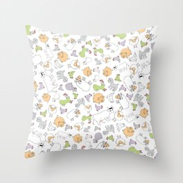 The Little Farm Animals Throw Pillow
