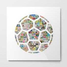 Philately Soccer Ball Metal Print