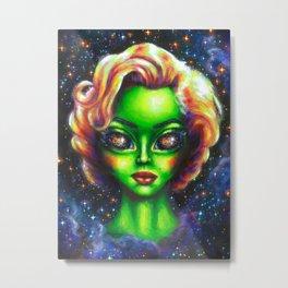 Iconic Alien Women: Marilyn Metal Print