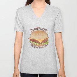 Dauntless - Because Burgers Unisex V-Neck