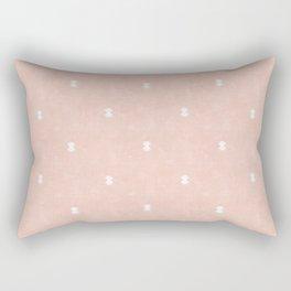 bohemian aztec simple - pink Rectangular Pillow