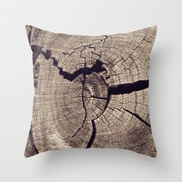 Cracks in Time - Photography #Society6 Throw Pillow