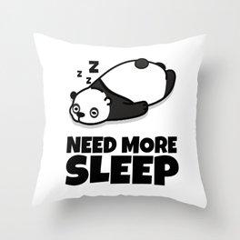 Sleepy Panda Need More Sleep Bear Wildlife Wilderness Lazy Forest Nature Gift Throw Pillow