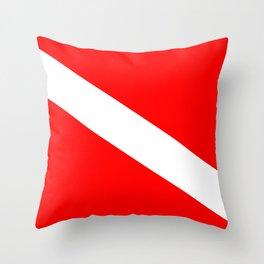 Diver Down Flag Throw Pillow