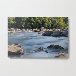 Flowing Water - Farmington River Metal Print