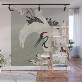 Japanese Crane Wall Mural
