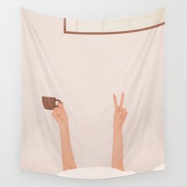 Good Peaceful Morning Wall Tapestry