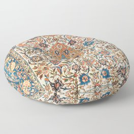 Isfahan Antique Central Persian Carpet Print Floor Pillow